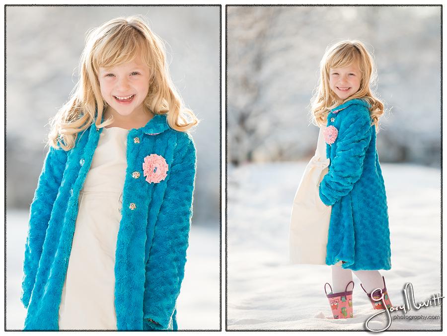 6 year old girl photography - Snow portrait - Philadelphia- Gary Nevitt Photography-176
