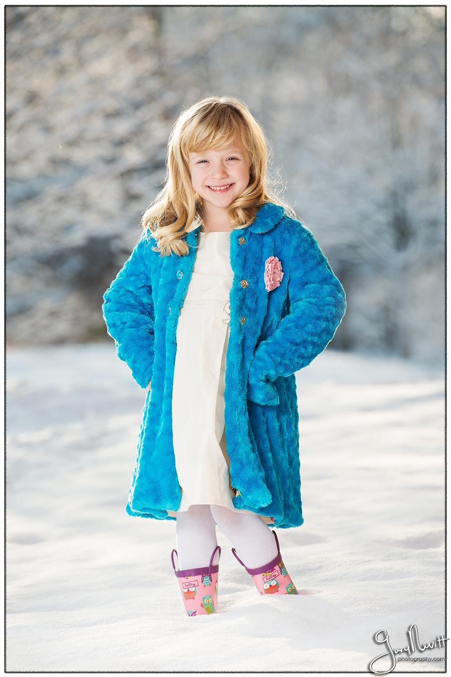 6 year old girl photography - Snow portrait - Philadelphia- Gary Nevitt Photography-177