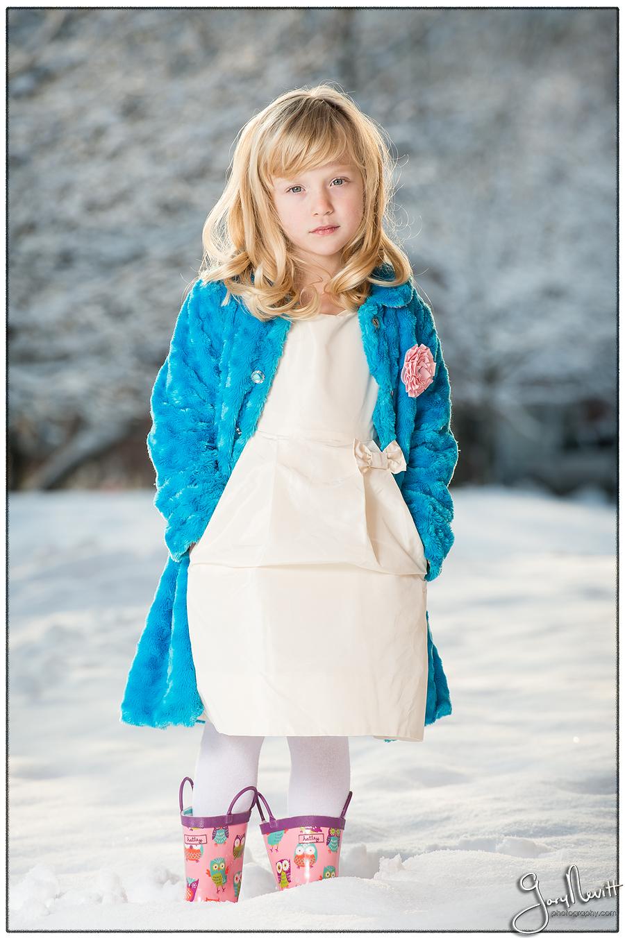 6 year old girl photography - Snow portrait - Philadelphia- Gary Nevitt Photography-180
