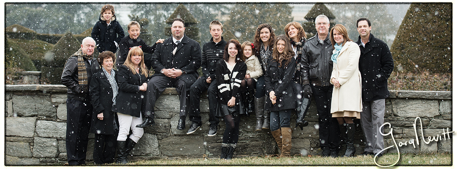 Longwood Gardens Family Portrait - Gary Nevitt Photography - Snowing - Winter - Russo-130