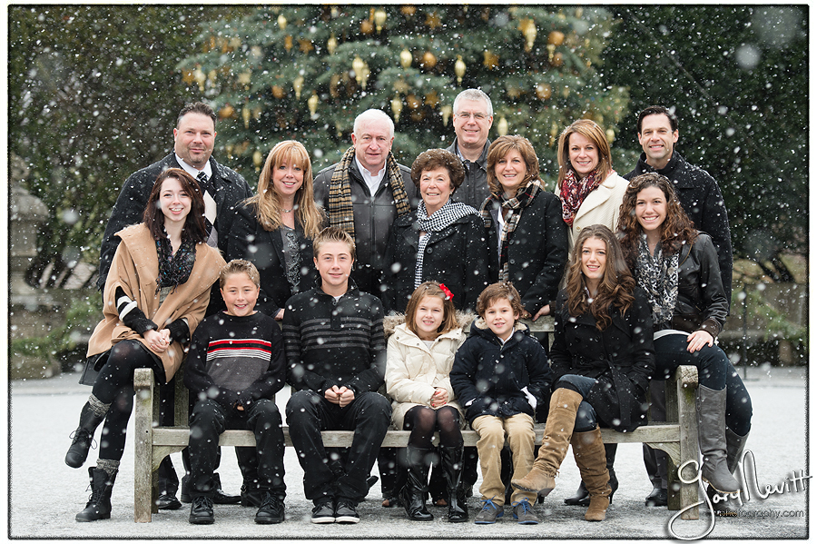 Longwood Gardens Family Portrait - Gary Nevitt Photography - Snowing - Winter - Russo-131