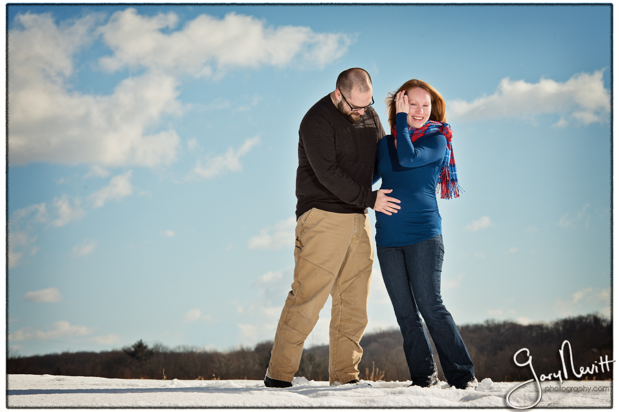 Maternity Photography - Snow - Pregnancy Pictures Gary N102evitt Photography-